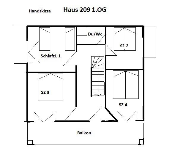 1. Obergeschoss Grundriss